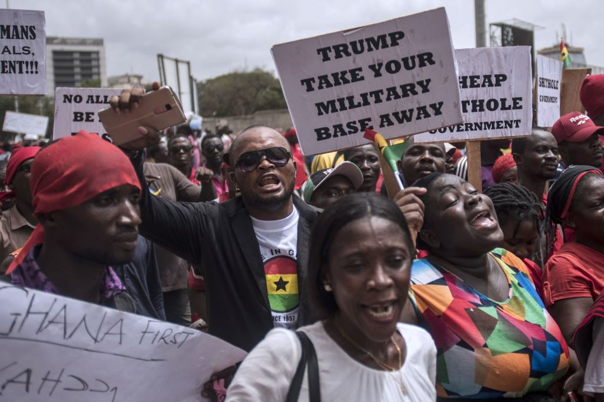 Ghana First Us Military Deal Leads Thousands To Protest