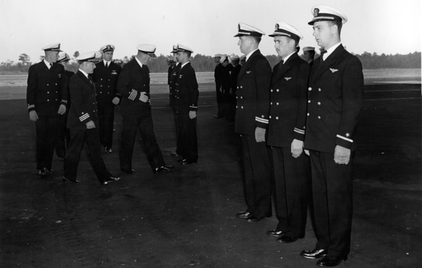 Naval Air Station Glynco officers' inspection by Theodore