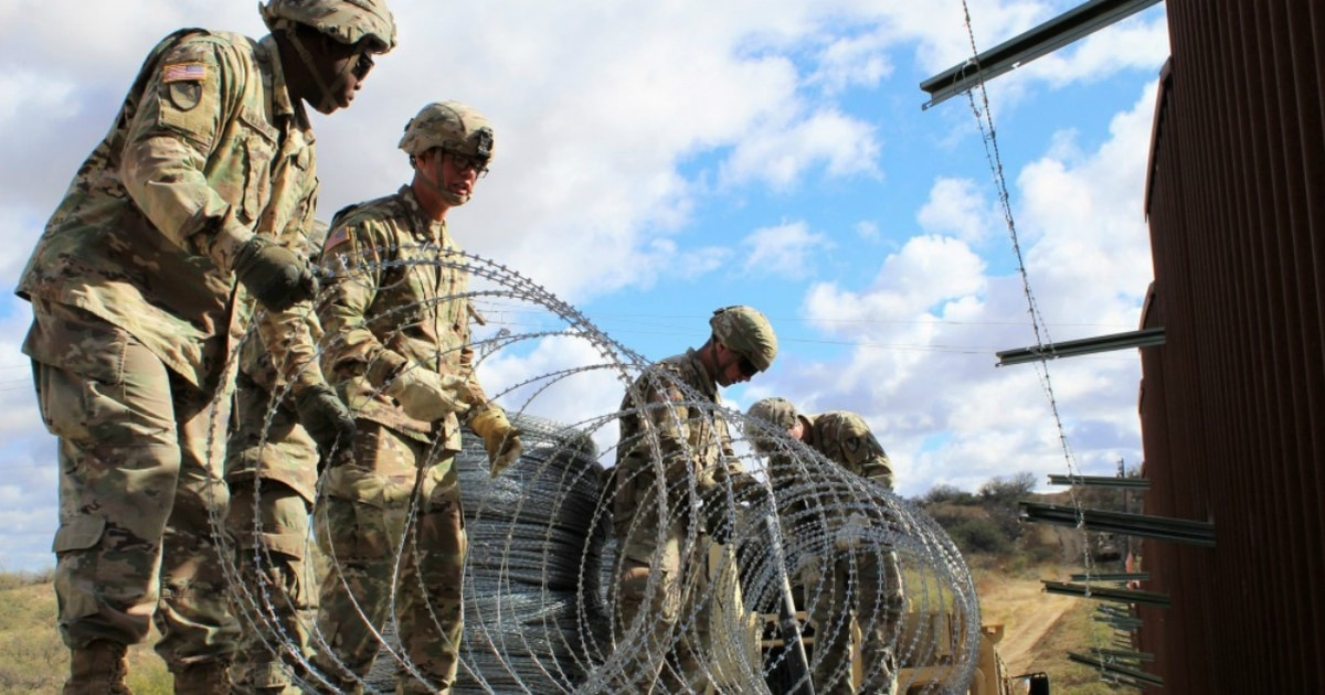 Troops do not view immigration as a 'national emergency ' Not even