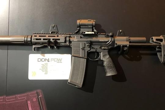 Daniel Defense's DDM4 PDW in its pistol configuration (Photo Ian D'Costa)