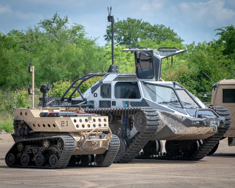 Army Futures Command held demonstrations of technology and equipment on May 16, 2019 at the Texas A&M University System's RELLIS Campus in Bryan, Texas. Six weapons and defense industry vendors showcased seven autonomous combat vehicles in an effort for Army officials to decide which machines fit their needs best and what needs to be improved on. (Luke J. Allen/Army)