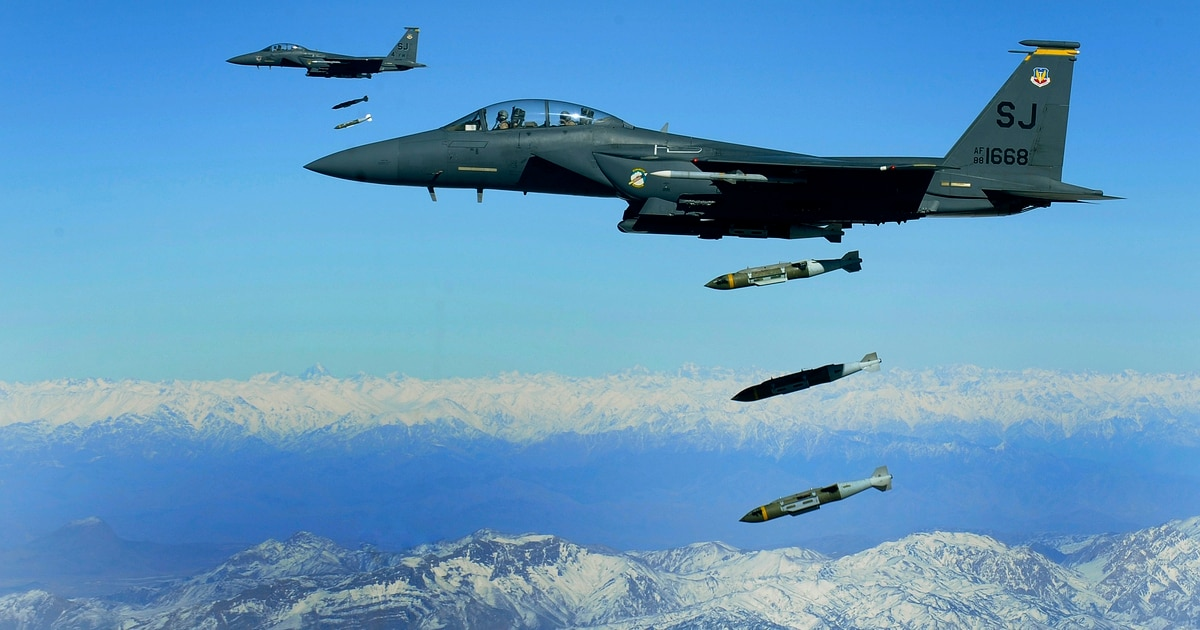 The US has ramped up its air campaign in Afghanistan to highest level in nine years
