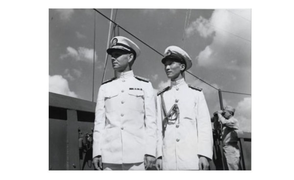 "Capt. (later Rear Adm.) Milton ""Mary"" Miles and Gen. Dai Li of the Sino-American Cooperation Organization. (U.S. Naval History and Heritage Command)"