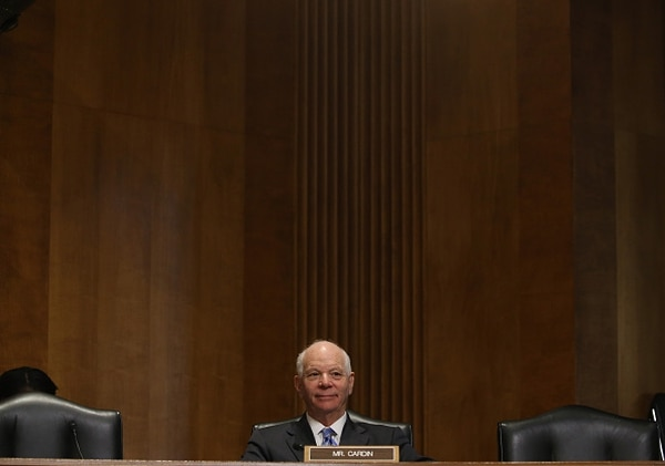 WASHINGTON, DC - MARCH 10: Sen. Ben Cardin (D-MD) participates in a Senate Foreign relations Committee hearing on Capitol Hill, March 10, 2015 in Washington, DC. The committee was hearing from us government officials on the situation in Ukraine. (Photo by Mark Wilson/Getty Images)