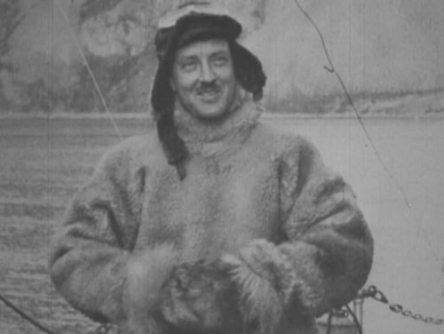 Lt. Cmdr. Richard E. Byrd models his fur flight suit. One of the lesser dangers of the test flights was the risk of frostbite. (National Archives)