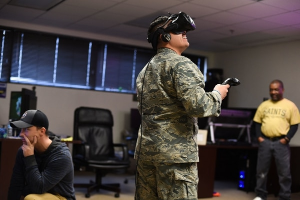 Virtual reality and AI offer a promising future of training. (Alan R. Quevy/U.S. Air Force)
