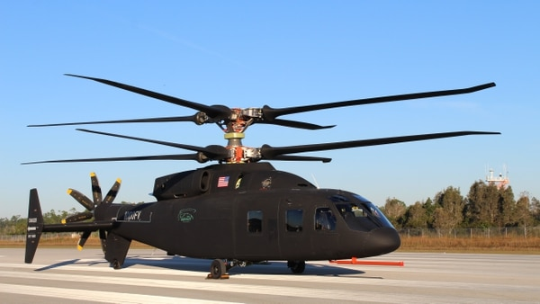 Sikorsky and Boeing provided the first look at the new Defiant helicopter. The aircraft's rotor system will allow it to fly about twice as fast and twice as far as today's conventional helicopters. (Courtesy Sikorsky-Boeing Team)