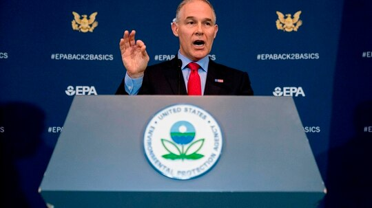New internal documents say a sweep for hidden listening devices in Environmental Protection Agency Administrator Scott Pruitt's office was shoddy and wasn't properly certified under U.S. government practices (Andrew Harnik/AP)