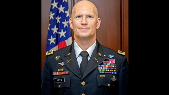 Col. Scott Green, director of the Army's Command and General Staff School, was found unresponsive in his office Tuesday morning and pronounced dead. (Army/Facebook)