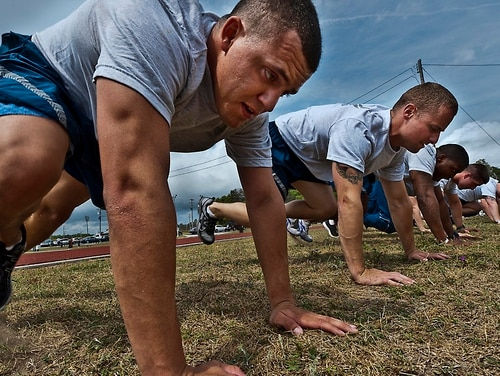Staff Sgt. Bobby Brewer and more than 20 other Airmen perform