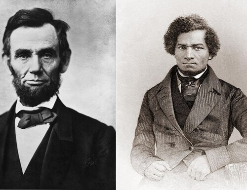 President Abraham Lincoln first met with Frederick Douglass in August 1863. (Library of Congress)
