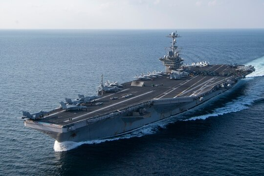 The aircraft carrier Harry S. Truman underway. (Navy)