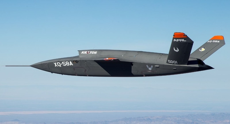 The XQ-58A Valkyrie demonstrator, a long-range, high subsonic unmanned air vehicle completed its inaugural flight March 5, 2019, at Yuma Proving Grounds, Arizona. (DoD)