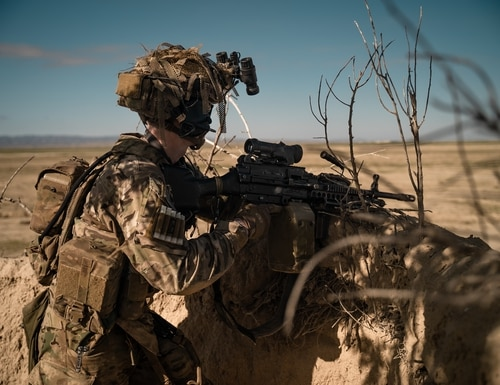 U.S. special operations service members conduct combat operations in support of Operation Resolute Support in Southeast Afghanistan, April 2019. (U.S. Army photo by Sgt. Jaerett Engeseth)
