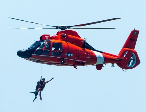 The United States Coast Guard performs a demo near 16th Street in Ocean City during the Ocean City Air Show on Saturday, June 18.
