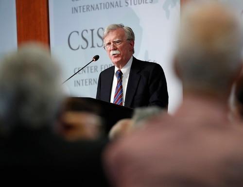 Former national security adviser John Bolton speaking at the Center for Strategic and International Studies in Washington, Monday, Sept. 30, 2019. (Pablo Martinez Monsivais/AP)