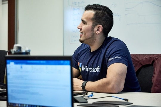 The Microsoft Systems and Software Academy has graduated more than 3,000 students to date, training veterans for in-demand tech jobs. (Photo courtesy MSSA)