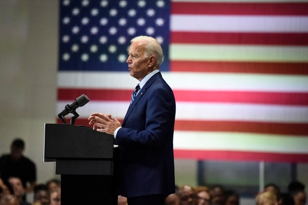 Democratic presidential candidate and former vice President Joe Biden speaks at a campaign event in Sumter, S.C, on July 6, 2019. (Meg Kinnard/AP)