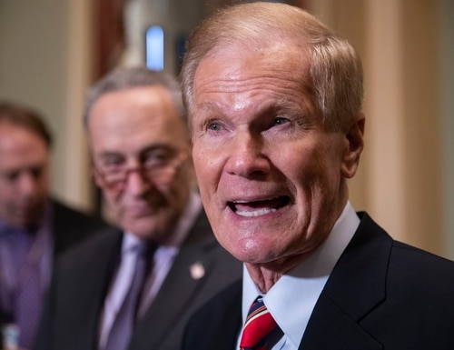 President Joe Biden has chosen Bill Nelson, a former senator from Florida who flew on the space shuttle to lead NASA. Biden announced his intent Friday, March 19, 2021.(AP Photo/J. Scott Applewhite, File)