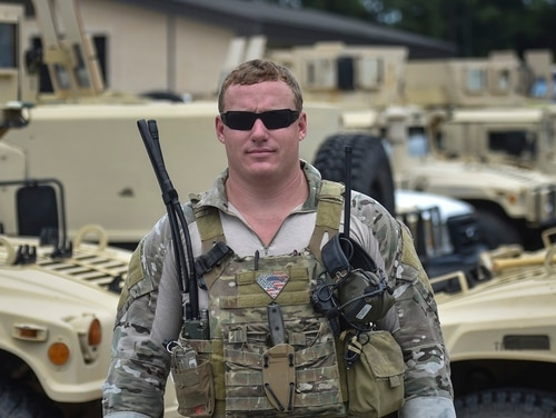 Staff Sgt. Christopher Lewis, a combat controller with the 23rd Special Tactics Squadron, will receive a Silver Star Jan. 19 for his actions during an intense 10-hour firefight near Mosul, Iraq, last October. (Air Force)