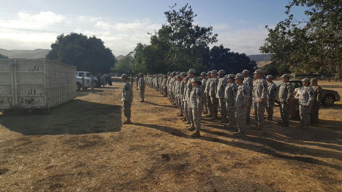 US Soldier With The 578th Brigade Engineer Battalion And 40th Support California Army National Guard Are Part Of 300 Troop Task