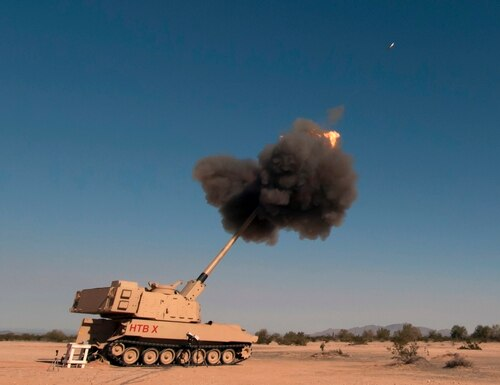 U.S. Army Yuma Proving Ground conducts developmental testing of multiple facets of the Extended Range Cannon Artillery project, from artillery shells to the longer cannon tube and larger firing chamber the improved howitzer will need to accommodate them. (Army)