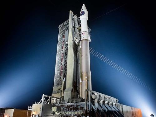 The Lockheed Martin built-SBIRS GEO Flight-4 satellite was launched at 7:48 p.m. EST on Jan. 19 (Lockheed Martin).