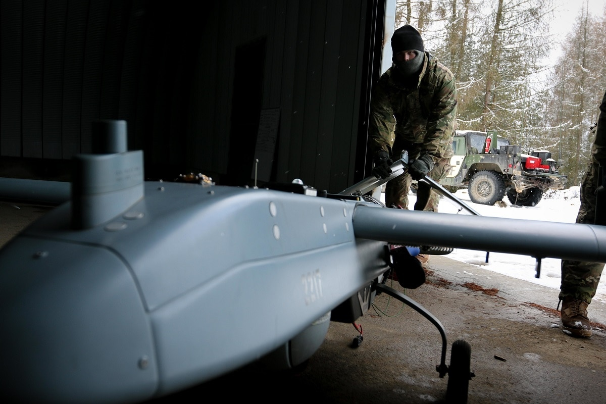 U.S. Soldiers – Launch RQ-7 Shadow UAVs – Unmanned Aerial Vehicle – Germany