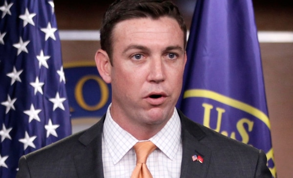 FILE - In this April 7, 2011 file photo, Rep. Duncan Hunter, R-Calif., speaks during a news conference on Capitol Hill in Washington. Hunter said he will introduce a bill on March 19, 2015, that calls on the president to task one person to lead U.S. efforts to recover American hostages. (AP Photo/Carolyn Kaster, File)