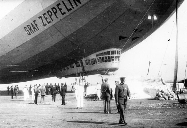Graf Zeppelin in Los Angeles, ca. August of 1929. -(The Henry Cord Meyer Collection/ San Diego Air and Space Museum)