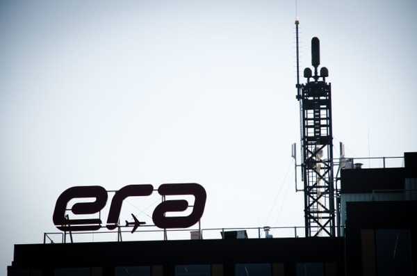 A VERA-NG system is seen on the roof of Era's new headquarters in Pardubice, it is able to track aerial targets using only signals emitted from aircraft. (Photo: Grant Turnbull)