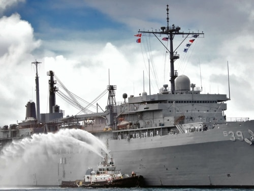 Some of the victims who had their images allegedly posted to a pornographic website served on board the submarine tender Emory S. Land, according to NBC. (Navy)