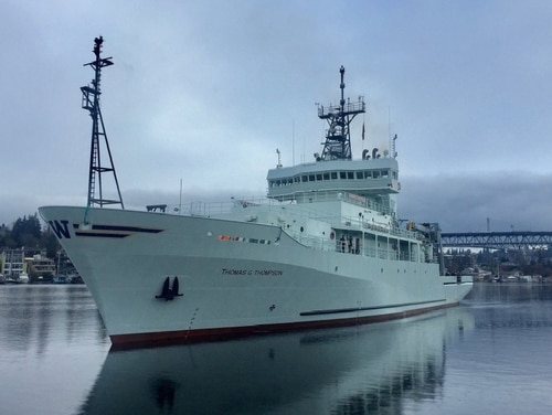 The Navy research vessel Thomas G. Thompson has arrived in Taiwan, according to that country's official Central News Agency. The visit has raised tensions between the U.S. and China, which has expressed its concerns to the U.S. about the visit. University of Washington