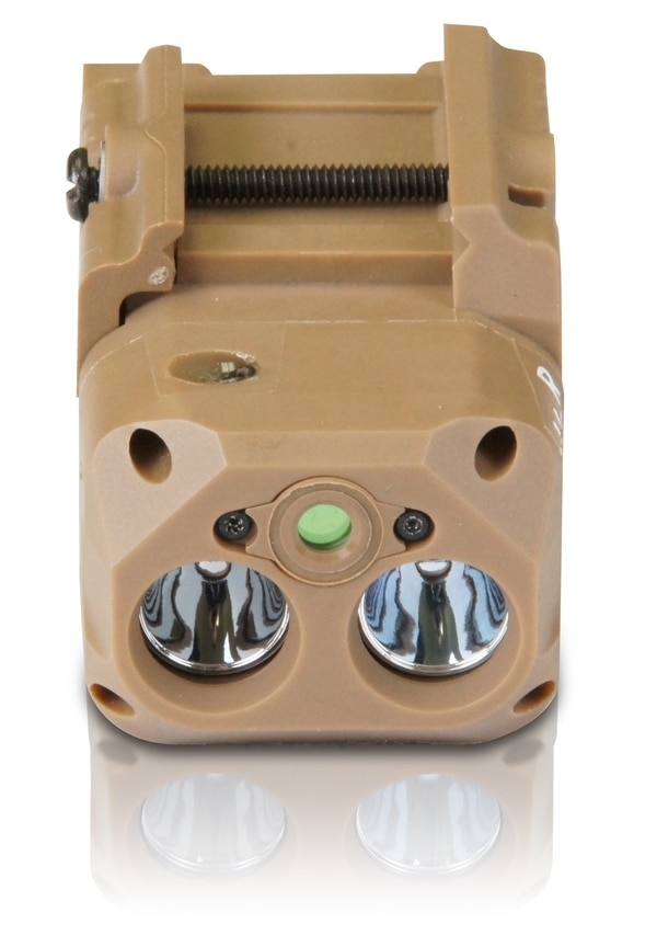 Laser Max Defense recently won the contract to build its pistol enhancer laser/light combo for the Army's M17/M18 handgun system. (Laser Max Defense)