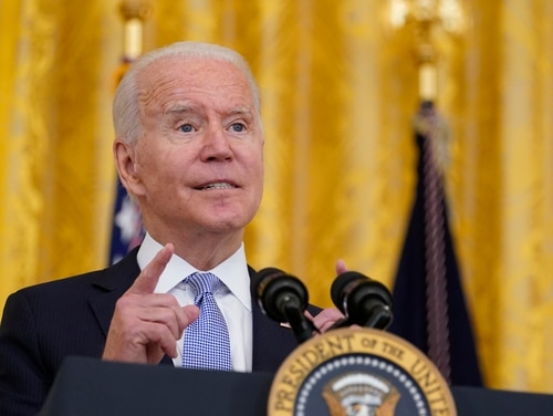 President Joe Biden authorized 1,000 more troops to Afghanistan as the Taliban overrun the country. (AP Photo/Susan Walsh)