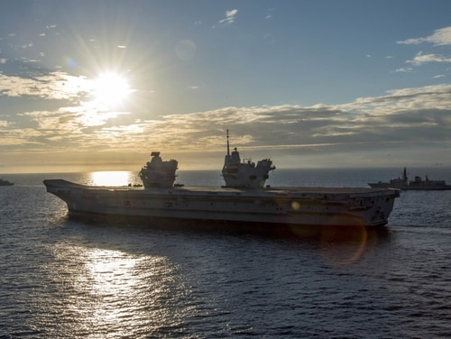 The Royal Navy aircraft carrier HMS Queen Elizabeth (R08) has christened a new onboard bar that will serve an array of beers. (MC3 Daniel Gaither/Navy)