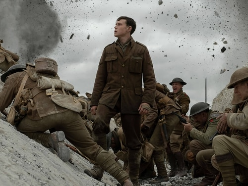 George MacKay as Lance Corporal Schofield. (Universal)