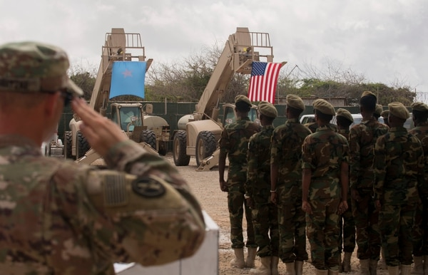 Troops from Somali's Danab battalion spent 14 weeks training with the U.S. 10th Mountain division during logistical training in August 2018. (U.S. Army Africa)