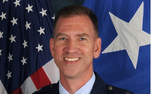 Brig. Gen. Jeffrey Bozard was relieved of command of the District of Columbia Air National Guard's 113th Wing at Joint Base Andrews on Aug. 31. (Air Force)
