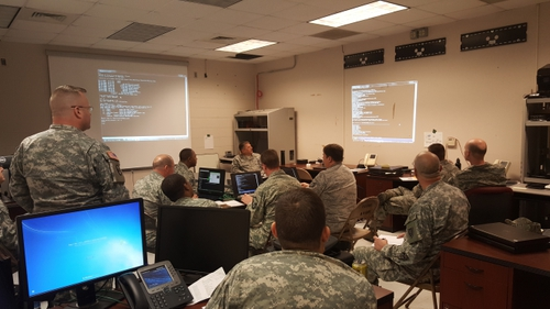 One thing that will change for Cyber Command's defensive arm post CYBERCOM elevation is matching a higher battle rhythm. (U.S. Army National Guard photo by Maj. Robert Felicio/Released)