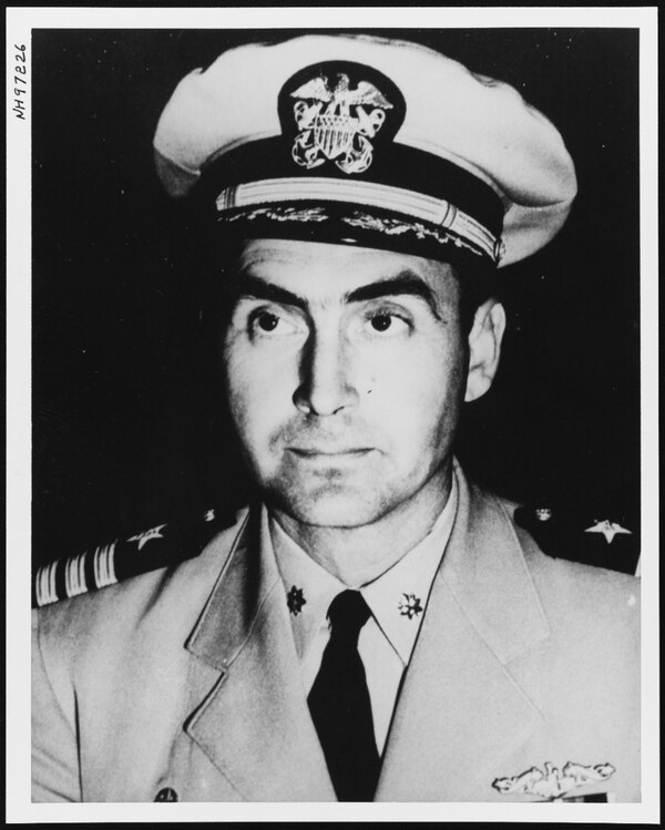 Cmdr. Francis A. Slattery, the commanding officer of the nuclear-powered attack submarine Scorpion when it was reported missing in 1968. Cdr. Slattery took command of Scorpion in late 1967. (U.S. Naval History and Heritage Command)