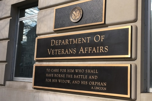 The Veterans Affairs motto displayed outside department headquarters is seen on Feb. 20, 2018. On Wednesday, President Donald Trump nominated Paul Lawrence to take over the post of VA undersecretary for benefits. (Leo Shane III/Staff)