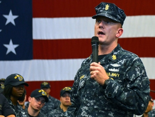 Master Chief Petty Officer of the Navy (SG/IW) Steven S. Giordano resigned June 21 as the 14th MCPON. (MC2 Andrew Murray/Navy)
