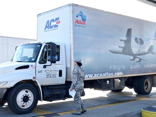 Service members on the move are entitled to a free re-weigh of their household goods. (Kelly White/Air Force)