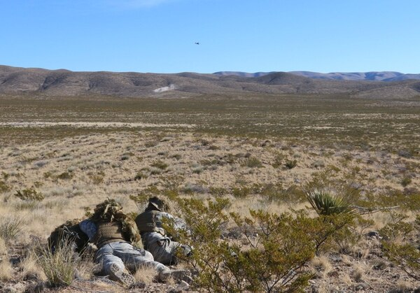Soldiers train at Fort Bliss. The 1st Armored Division has developed a 20-day desert school that kicks off in June.