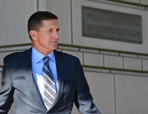 Former Trump national security adviser Michael Flynn leaves federal court in Washington on Dec. 1, 2017. (Susan Walsh/AP)