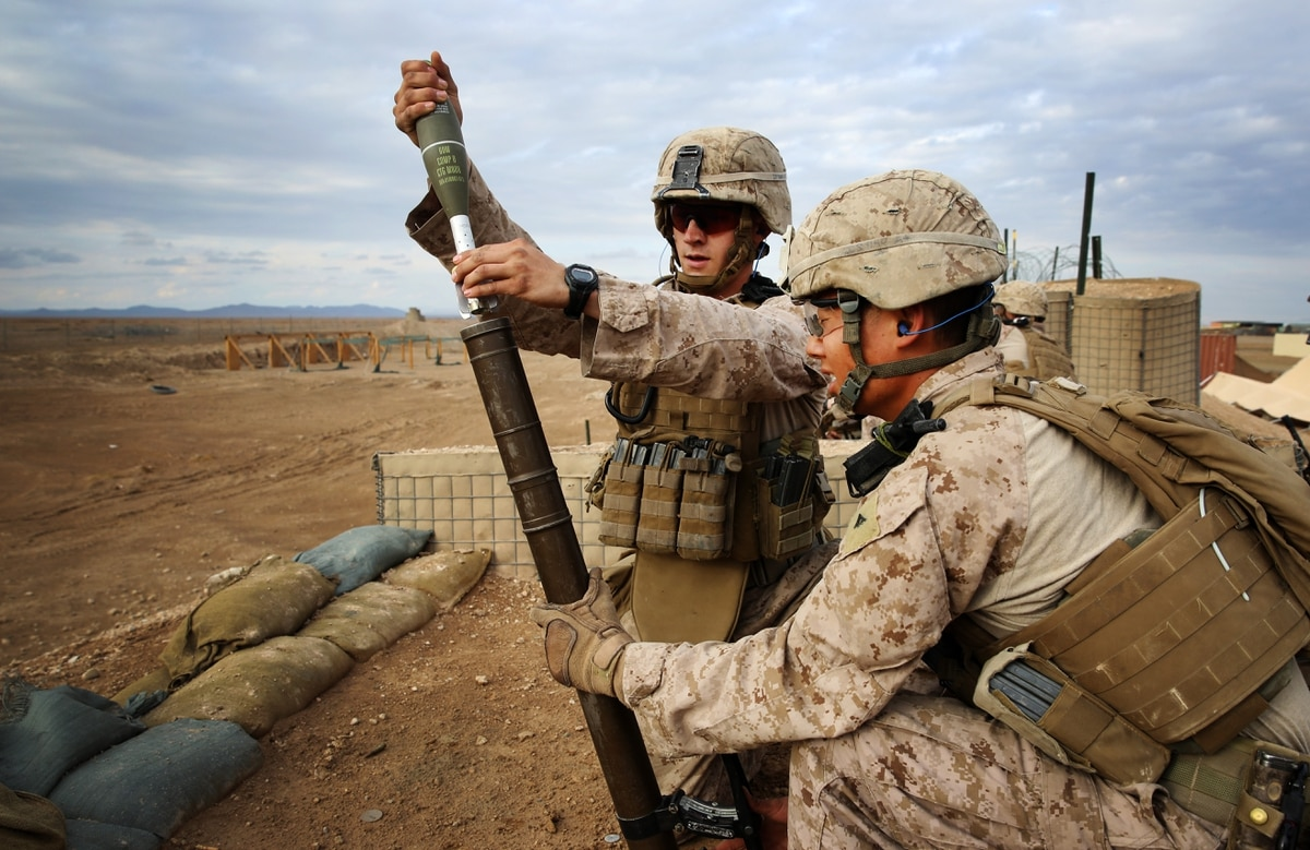U.S. Marines • Fire 60mm Mortars • United Arab Emirates, Sept 24, 2020