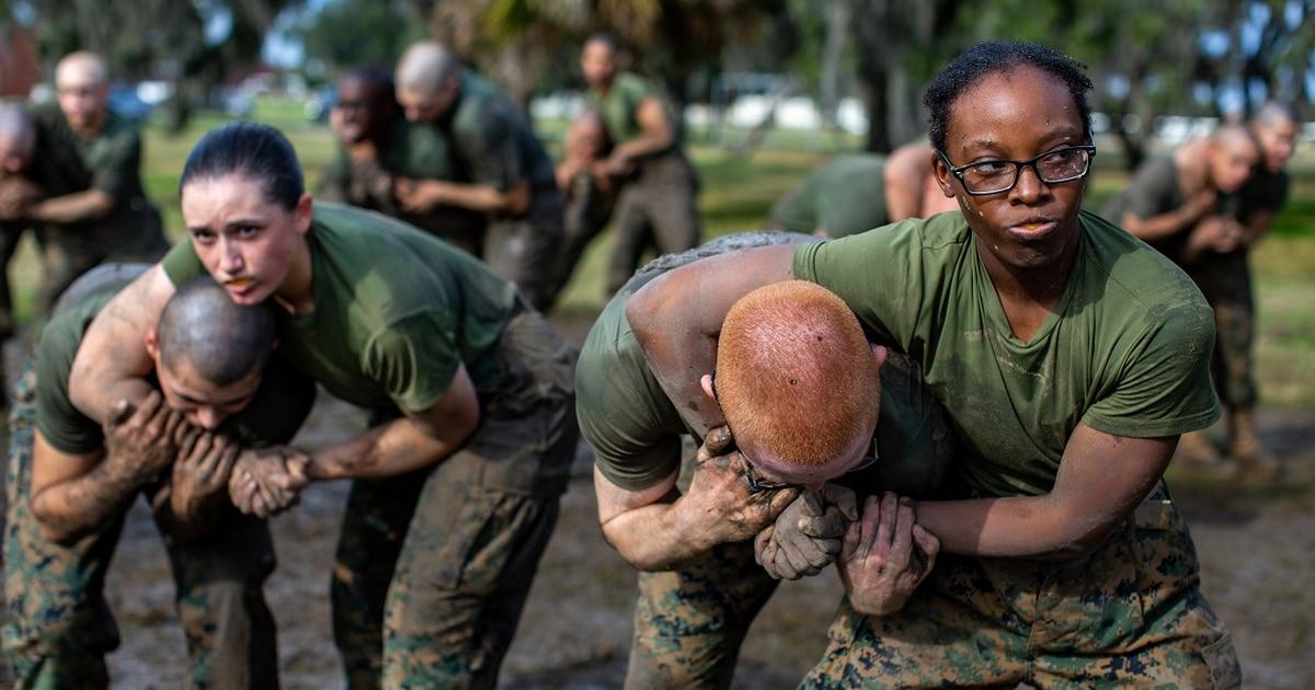 Marine uses wrestling past to train martial arts teachers