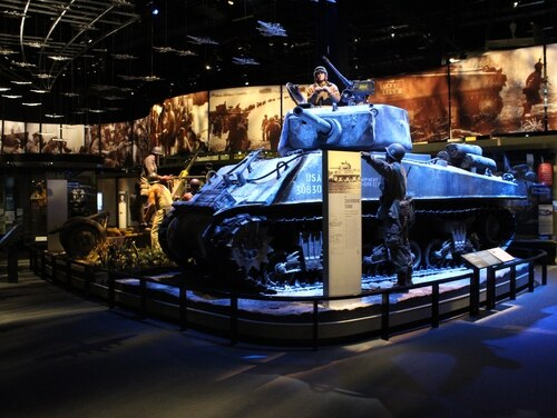 An M4 Sherman tank is featured at the National Museum of the United States Army, which opens Wednesday, Veteran's Day. (Kyle Rempfer/Staff)