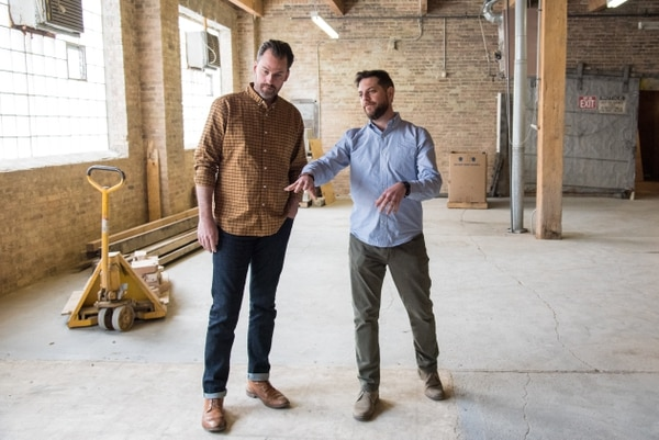 Branden Marty (L), founder of Veteran Roasters, and Joshua Millman (R), owner of Passion House Coffee Roasters, are both working toward the eventual goal of ending veteran homelessness and unemployment. (Photo provided by Branden Marty)